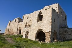 Migdal Zedek. Is a site located near the town Of Rosh HaAyin, Israel. The ruin of a white Ottoman building Stock Photography