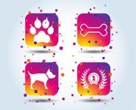 Migdali ikony Kot łapa z sprzęgło znakiem ilustracja wektor