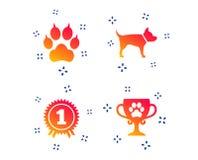 Migdali ikony Kot łapa z sprzęgło znakiem wektor royalty ilustracja