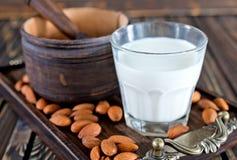 Migdału mleko Obrazy Royalty Free