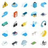 Might icons set, isometric style. Might icons set. Isometric set of 25 might vector icons for web isolated on white background Royalty Free Stock Image