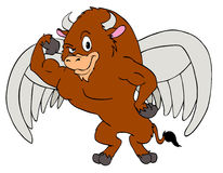 Mighty Buffalo Wings Royalty Free Stock Photography
