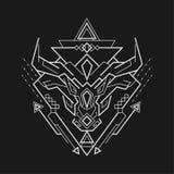 Mighty bull. Sacred geometry mighty bull symbol royalty free illustration