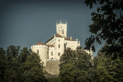 Mighty castle. Beautiful coherence of nature and historical architecture ... It works very smooth and romantic, hearty corner where a man rested soul and eyes Stock Image
