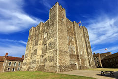 Mighty castle on the hill above Dover, United Kingdom Royalty Free Stock Photos