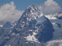 The Mighty Eiger. View of the Eiger mountain located in the Jungrau region of Switzerland.  Photograph taken from Murren Stock Photography