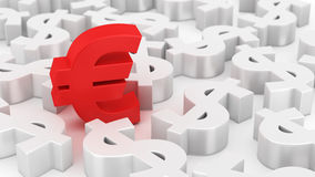 Mighty euro Stock Photography