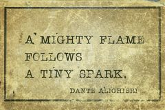 Mighty flame Dante Royalty Free Stock Photography