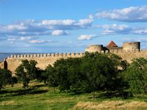 Mighty fortress - Bilhorod. A medieval fortress of Akkerman on the Dniester (river) estuary leading to the Black Sea, located in today's southwestern Ukraine Royalty Free Stock Image