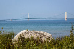 The Mighty Mackinac Bridge, Michigan royalty free stock photos
