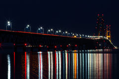 The Mighty Mackinac Bridge, Michigan Royalty Free Stock Photos