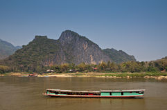 Mighty Mekong river Royalty Free Stock Photo