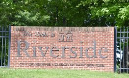 The Links at Riverside Golf Course Sign, Memphis, TN stock photography