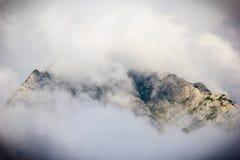 Mighty mountains. Top of the mountain in Romania Stock Photos