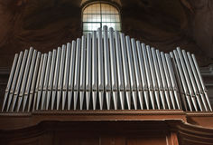 Mighty Organ Pipes Stock Images