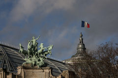 Mighty Paris. One Winter Day before New Year Eve we were taking a walk around Paris Stock Image