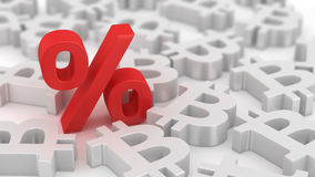 Mighty percent of bitcoins Royalty Free Stock Image