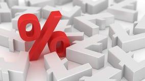 Mighty percent of litecoins Stock Photo