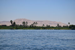 Mighty river Nile Valley in Egypt Stock Image