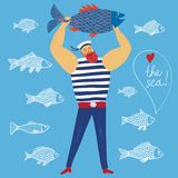 Mighty sailor fisherman Royalty Free Stock Photography