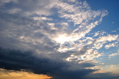 Mighty stormy clouds Royalty Free Stock Photography
