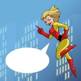 Mighty super girl Stock Photo