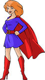 Mighty super girl Royalty Free Stock Photos