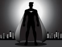 Mighty Superhero in the city Royalty Free Stock Photography