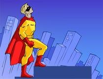 Mighty superhero Stock Photo