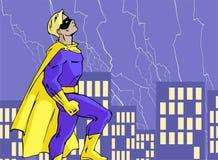 Mighty superhero Royalty Free Stock Image