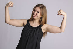 Mighty woman Royalty Free Stock Photo