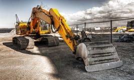 Mighty yellow excavator Stock Image