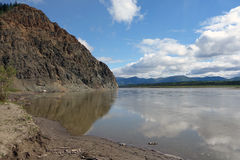 The mighty yukon river in the springtime Royalty Free Stock Image