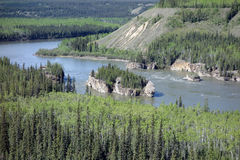 The mighty yukon river in the springtime Royalty Free Stock Images