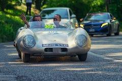 1000Miglia意大利历史葡萄酒赛车 免版税图库摄影