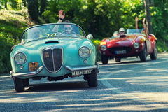 1000Miglia ιταλική ιστορική εκλεκτής ποιότητας φυλή αυτοκινήτων Στοκ εικόνα με δικαίωμα ελεύθερης χρήσης