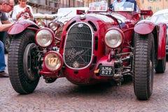 Miglia 1000 2017, Брешия - Италия 17-ое мая 2017: Исторические автогонки Mille Miglia Альфа Romeo 8c 2900 Botticella, год 1936 стоковое фото