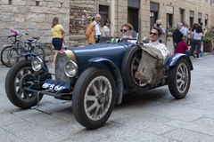 1000 Miglia 2015年,意大利的著名赛车 库存照片