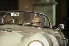 1000 Miglia 2015年,经典汽车意大利种族  图库摄影