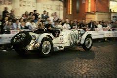 1000 Miglia 2015年,经典汽车意大利种族  免版税库存图片