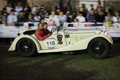 1000 Miglia 2015年,经典汽车意大利种族  库存照片