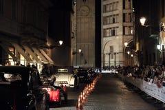 1000 Miglia 2015年,经典汽车意大利种族  免版税库存照片