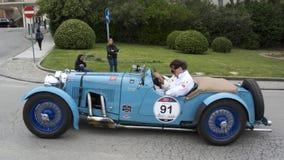 1000 miglia, Aston Martin Le Mans (1933), DIECI CATE Jan, DIECI CATE Fotografie Stock