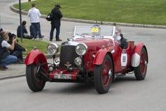 1000 miglia, Aston Martin Le Mans (1933), gi di GROSSI Fotografia Stock