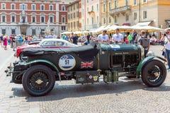 Miglia 1000 2017, Brescia - Italia 17 maggio 2017: La corsa di automobile storica di Mille Miglia Bentley Belles 4 5-litre immagini stock