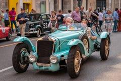1000 Miglia 2017, Brescia - Italy. May 17, 2017: The historic Mille Miglia car race. Delage D6 75 Sport 1939. 1940 stock photos
