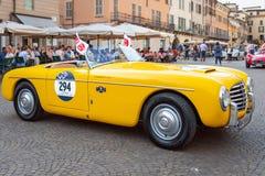 1000 Miglia 2017 Brescia, Włochy, - Maj 17, 2017: Historyczna Mille Miglia samochodowa rasa zdjęcie stock