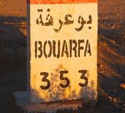 miglia di pietra in Africa Marocco Fotografia Stock Libera da Diritti