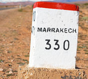 miglia di pietra in Africa Marocco Fotografia Stock