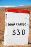 miglia di pietra nel Marocco Immagine Stock